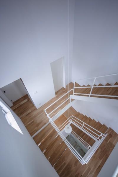 吹抜階段 (帝塚山の家)