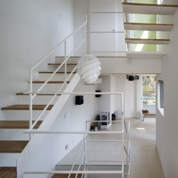 帝塚山の家 (吹抜階段)