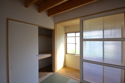 寝室 (箕面の家:大阪.箕面の店舗付き住宅)