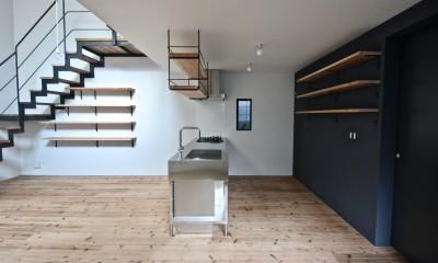 天神橋の家:大阪の注文住宅 (キッチン)