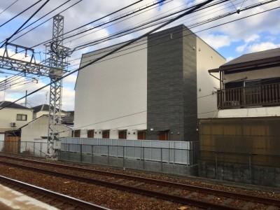 芦屋のアパートメント:デザイナーズ賃貸住宅 大阪の設計事務所 (外観)