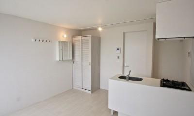 芦屋のアパートメント:デザイナーズ賃貸住宅 大阪の設計事務所 (キッチン)