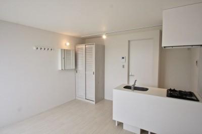 キッチン (芦屋のアパートメント:デザイナーズ賃貸住宅 大阪の設計事務所)