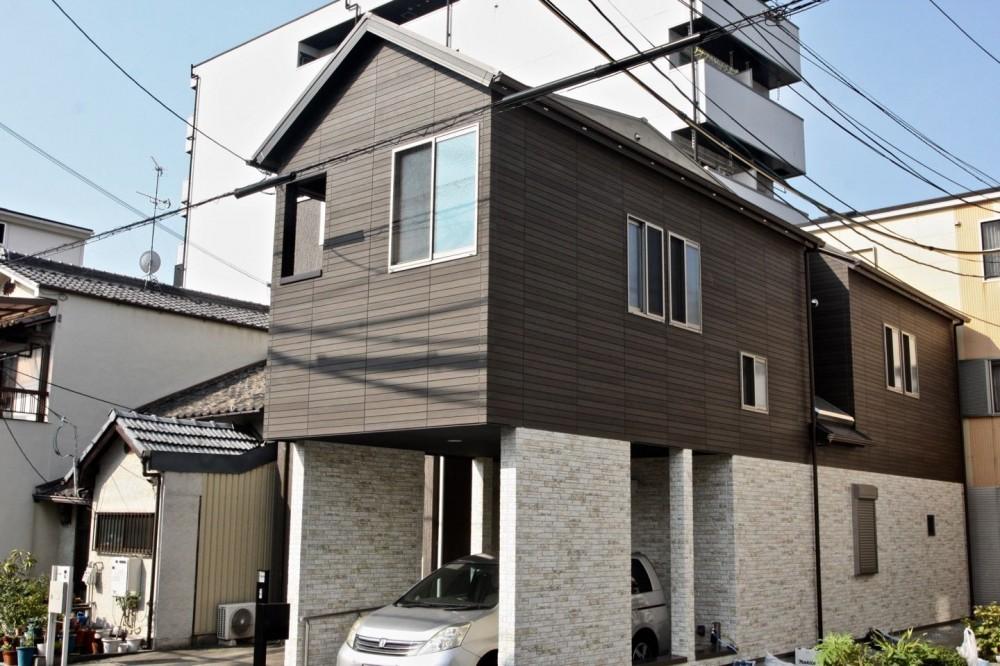 住吉の住宅:大阪の注文住宅 2階建て (外観)