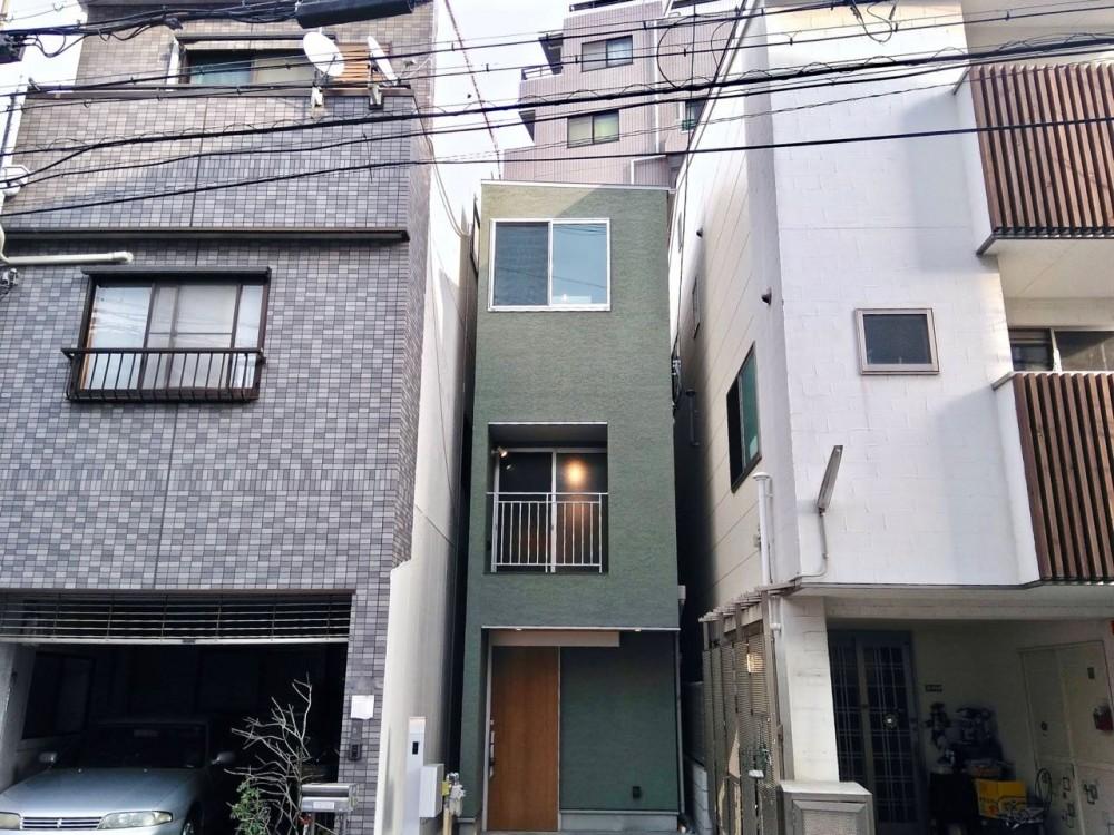 外観 (阿倍野の住宅:大阪の狭小住宅 3階建て)