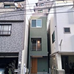 阿倍野の住宅:大阪の狭小住宅 3階建て (外観)