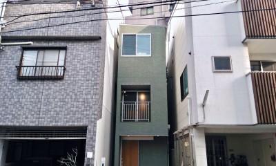 阿倍野の住宅:狭小間口の3階建て住宅