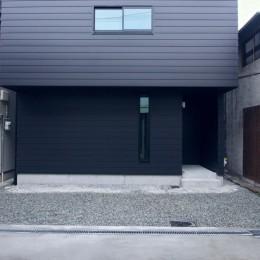 三国の住宅:大阪のデザイン住宅 3階建て (外観)