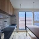 三国の住宅:都心に暮らす家族5人の家の写真 キッチン