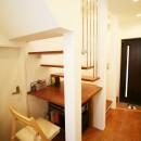 TWIN SMALL HOUSEの写真 階段の4段目が机