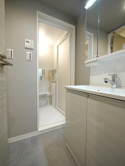 洗面室 (柔らかなナチュラルテイスト)