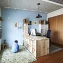 家族時間の写真 子ども部屋兼書斎