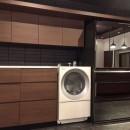 生駒山荘の別荘リノベーション(外国人家族):大阪 中古住宅のリノベーションの写真 キッチン収納