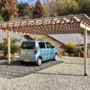 生駒山荘の別荘リノベーション(外国人家族):大阪 中古住宅のリノベーションの写真 ガレージ