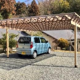 生駒山荘の別荘リノベーション:中古物件のリノベーション (ガレージ)