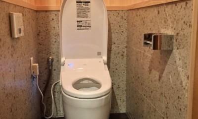 生駒山荘の別荘リノベーション(外国人家族):大阪 中古住宅のリノベーション (トイレ)