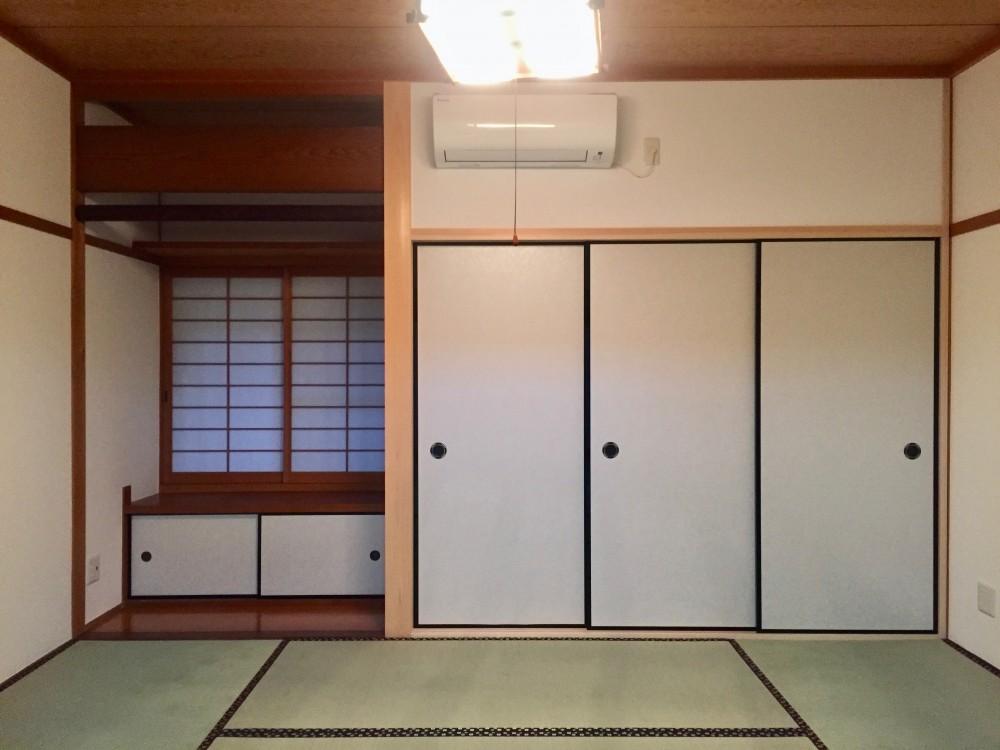 生駒山荘の別荘リノベーション(外国人家族):中古物件のリノベーション (和室)