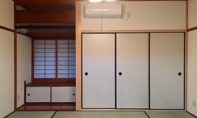 生駒山荘の別荘リノベーション(外国人家族):大阪 中古住宅のリノベーション (和室)