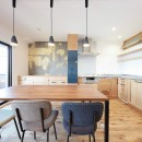 Natural Cute~無垢材×DIY塗装でオンリーワンな空間を~の写真 ダイニングキッチン