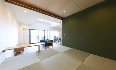 Natural Cute~無垢材×DIY塗装でオンリーワンな空間を~ (リビングダイニング)