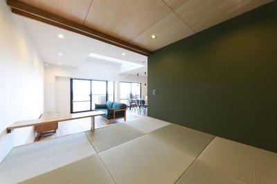 リビングダイニング (Natural Cute~無垢材×DIY塗装でオンリーワンな空間を~)