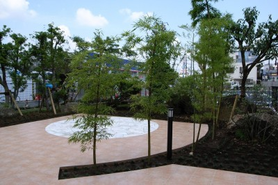 家の庭:緑に癒される家 (緑に癒される家)