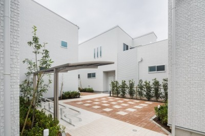 中庭の緑:緑に癒される家 (緑に癒される家)