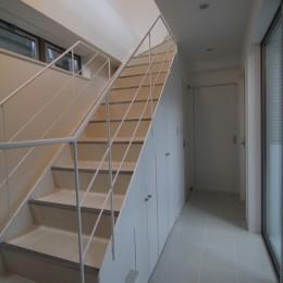 階段下スペースを収納+αで上手く活用した家 (階段下収納:階段下スペースを収納+αで上手く活用した家)