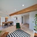 フリーキスワークスの住宅事例「ブルー好きな夫婦の北欧テイストな家」