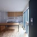三国の住宅:都心に暮らす家族5人の家の写真 1階 LDKスペース