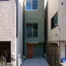 阿倍野の住宅:狭小間口の3階建て住宅の写真 正面外観