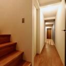 阿倍野の住宅:狭小間口の3階建て住宅の写真 1階階段
