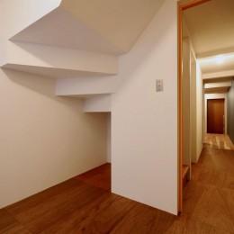 阿倍野の住宅:狭小間口の3階建て住宅 (1階寝室)