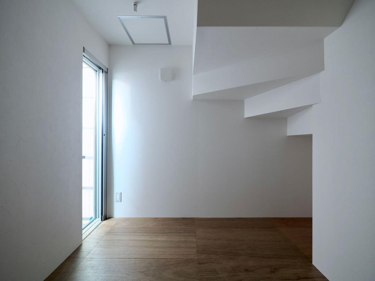 ベッドルーム事例:1階寝室(阿倍野の住宅:大阪の狭小住宅 3階建て)