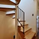 阿倍野の住宅:大阪の狭小住宅 3階建ての写真 階段