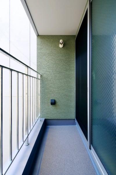 2階ベランダ (阿倍野の住宅:大阪の狭小住宅 3階建て)