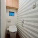阿倍野の住宅:狭小間口の3階建て住宅の写真 2階トイレ