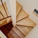 阿倍野の住宅:狭小間口の3階建て住宅の写真 階段