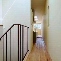 阿倍野の住宅:狭小間口の3階建て住宅 (3階階段)