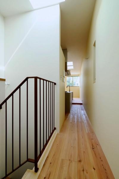 3階階段 (阿倍野の住宅:大阪の狭小住宅 3階建て)