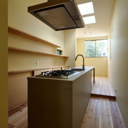 阿倍野の住宅:狭小間口の3階建て住宅 (3階LDK)