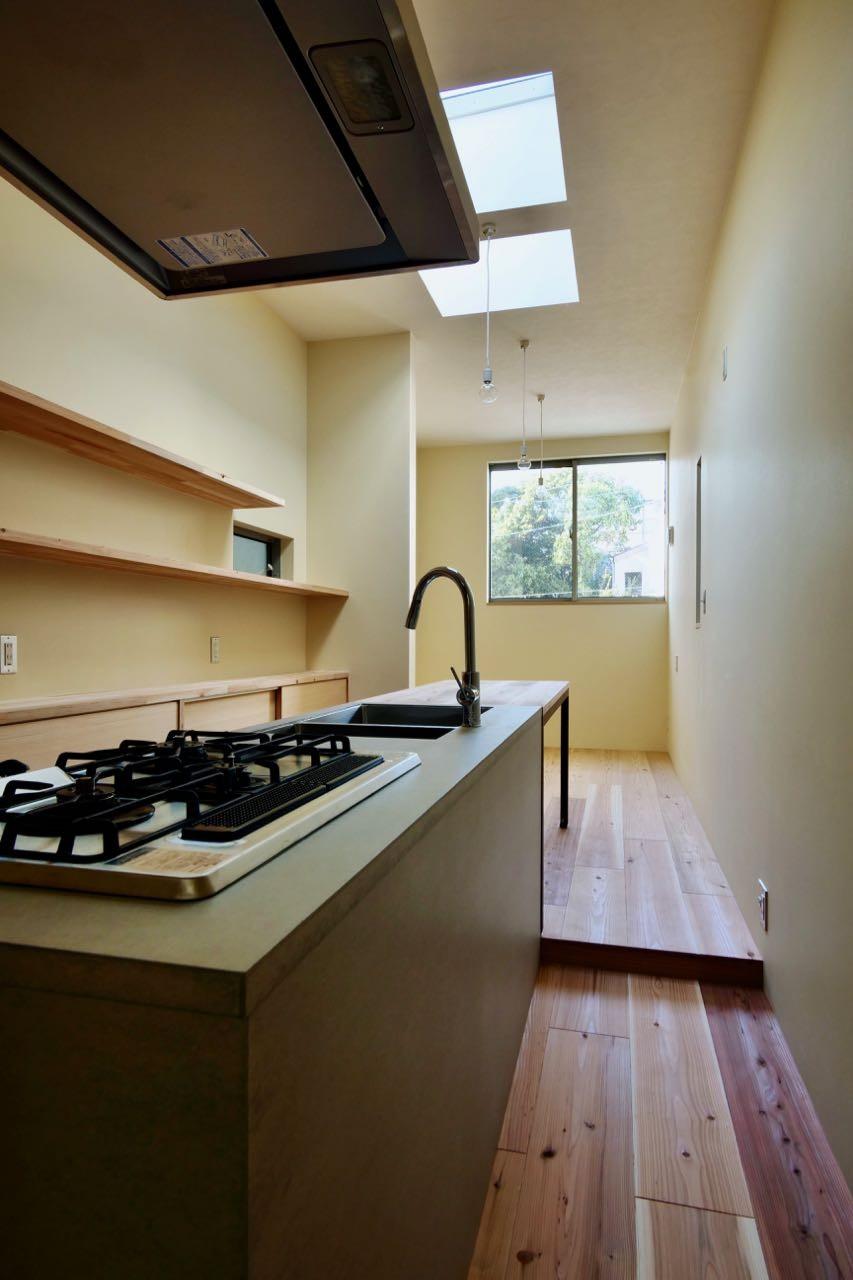 リビングダイニング事例:3階LDK(阿倍野の住宅:大阪の狭小住宅 3階建て)