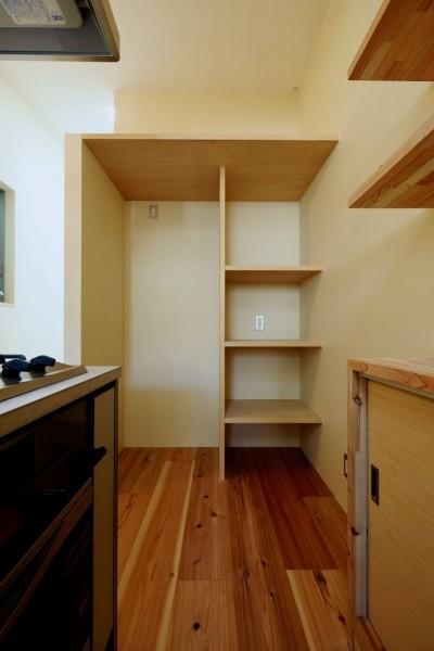 3階キッチンスペース (阿倍野の住宅:大阪の狭小住宅 3階建て)