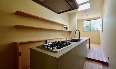 阿倍野の住宅:大阪の狭小住宅 3階建て (3階ダイニングキッチン)