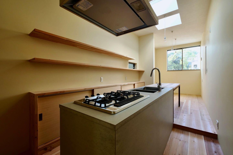 キッチン事例:3階ダイニングキッチン(阿倍野の住宅:狭小間口の3階建て住宅)