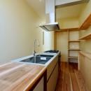 阿倍野の住宅:狭小間口の3階建て住宅の写真 3階キッチン