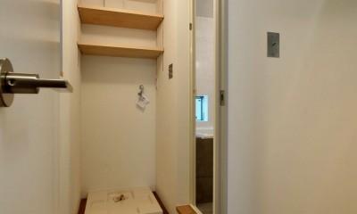 阿倍野の住宅:大阪の狭小住宅 3階建て (2階脱衣室)