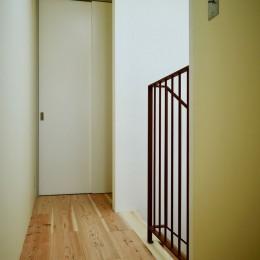 阿倍野の住宅:大阪の狭小住宅 3階建て (3階階段)