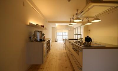 新居のためのリノベーション (キッチン)
