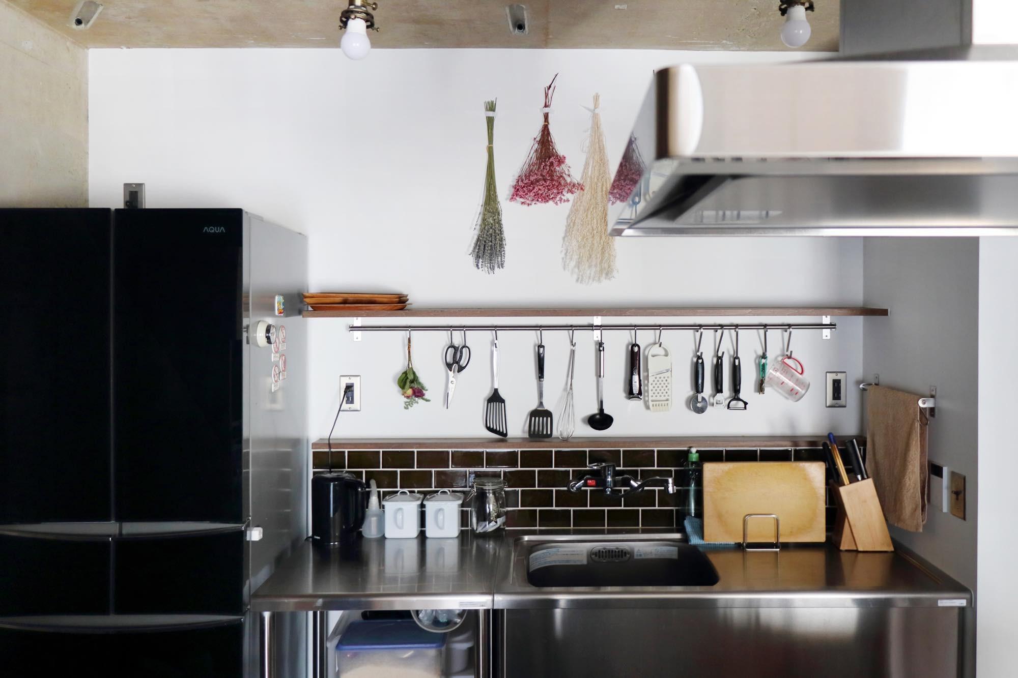 キッチン事例:キッチン(57平米に込めた夫妻の想い)